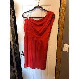 Red One Shoulder Vince Camuto Dress